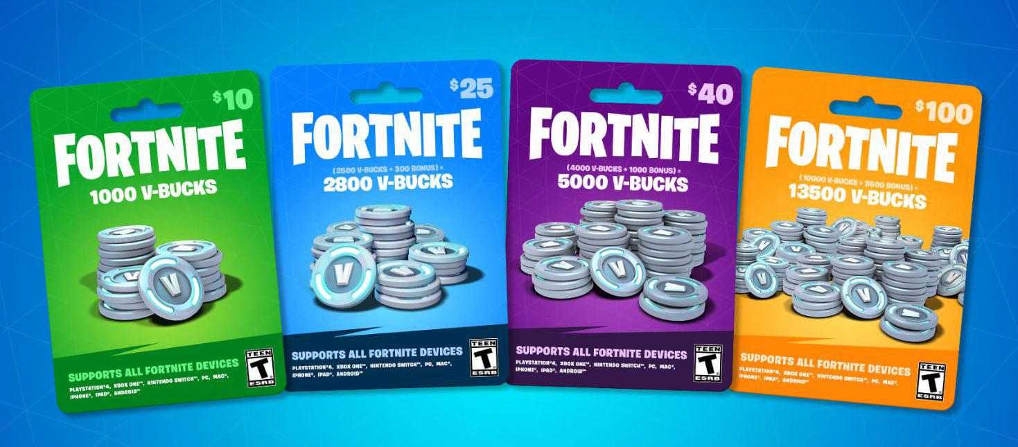 Fortnite V-Bucks Gift Card - 1